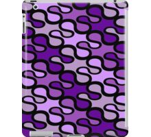Retro loops - purple iPad Case/Skin