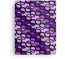 Retro loops - purple Metal Print