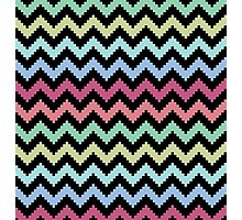 Dark Pixel Chevron Photographic Print