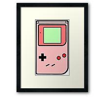 Pink vintage gameboy series Framed Print