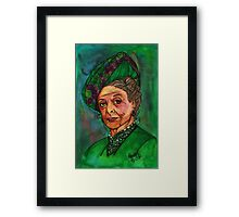 Dowager Countess Framed Print