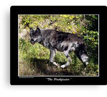 """""""The Pathfinder"""" Grey Wolf Photography Canvas Print"""