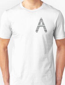 'A' Patterned Monogram T-Shirt