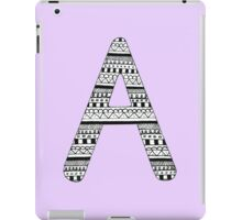 'A' Patterned Monogram iPad Case/Skin