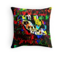 Blocks of Vibrant Color Throw Pillow