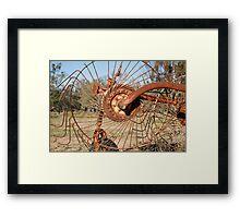 Lemnos-farm equipment Framed Print