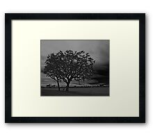 Bracing for the Storm on a Country Road Framed Print