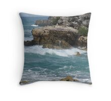 Oy Spray Throw Pillow