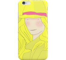 Girl In Hat With Purple Ribbon iPhone Case/Skin