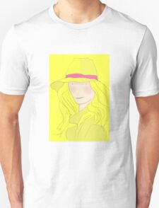 Girl In Hat With Purple Ribbon Unisex T-Shirt