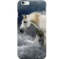 Fantasy White Horse & Ocean Surf Poster iPhone Case/Skin