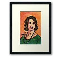 Lady Sybil Framed Print