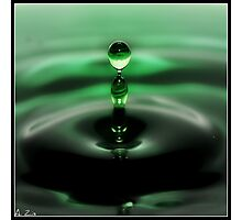 Pillar of waterdrops Photographic Print