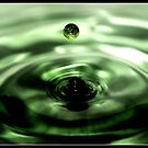 Iridescent Green Fountain by Ashli Zis