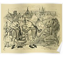 Through the Looking Glass Lewis Carroll art John Tenniel 1872 0168 White Bread and Brown Poster