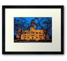 six-fifteen: Sacramento's Old City Hall under lights Framed Print
