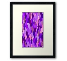 A Study in Violet Framed Print