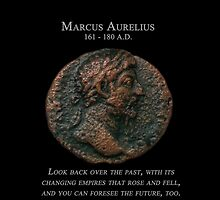 Ancient Roman Coin - MARCUS AURELIUS - Meditations by sixstringphonic