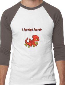 Chibi Smaug Men's Baseball ¾ T-Shirt