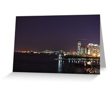 Jersey City Financial District Greeting Card