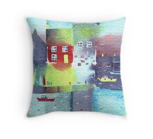 Quiet harbour Throw Pillow