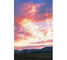 SUNBEAMS AT SUNSET Photographic Print