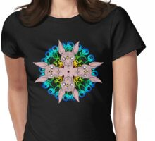 Sphynx Cat Mandala Womens Fitted T-Shirt