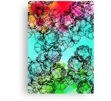 In my garden of colours Canvas Print