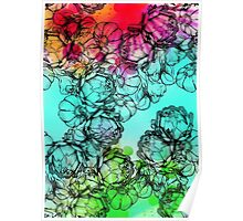In my garden of colours Poster