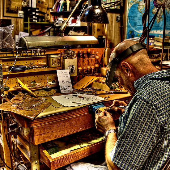 Watchmaker & Workbench by njordphoto