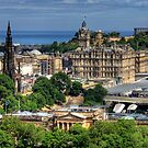 The East End of Edinburgh from the Castle by Tom Gomez