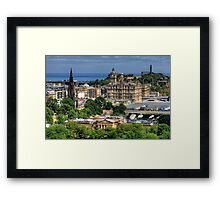 The East End of Edinburgh from the Castle Framed Print