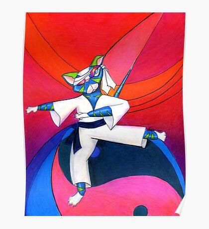 The Karate Kat Poster