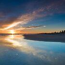 Motuotau Daybreak inkblot by Ken Wright