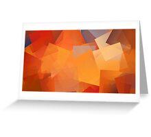 Orange Cubes Greeting Card