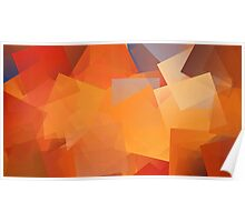 Orange Cubes Poster