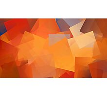 Orange Cubes Photographic Print