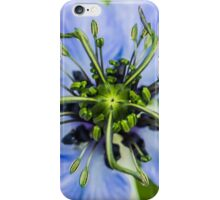 Macro photo of a flower in a Kent garden iPhone Case/Skin