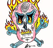 dia de muertos en fuego by kenrsalinas