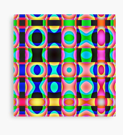 Colorful Psychedelic Abstract Pattern Canvas Print