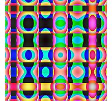 Colorful Psychedelic Abstract Pattern Photographic Print