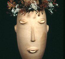 Head With Wreath by Wendy McNally