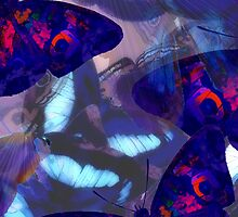 Abstracted Butterflies in Fauvist Colors #15 by Ivana Redwine