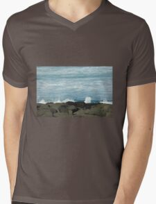On the Rocks at Port Fairy, Great Ocean Road Mens V-Neck T-Shirt