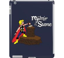 Mjolnir in the Stone (Comic Version) iPad Case/Skin