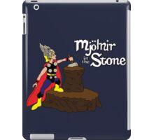 Mjolnir in the Stone (Comic Helmet Version) iPad Case/Skin
