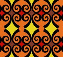 Retro curls - orange Sticker