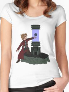 ORB IN THE STONE Women's Fitted Scoop T-Shirt
