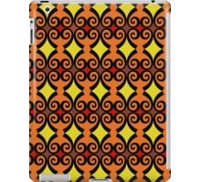 Retro curls - orange iPad Case/Skin
