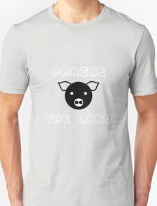 Funny pork bacon praise the lard pig funny nerd T-Shirt